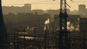 Ansicht des Wärmekraftwerks stock video footage