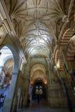 Ansicht des Waldes der Säulen in der großen Moschee in Cordoba, Spanien, Andalusien lizenzfreies stockbild