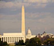 Ansicht des Washington DC Stockfotos