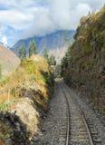 Ansicht des Weges zwischen Cusco und Machu Picchu, Peru Lizenzfreie Stockfotos