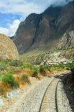 Ansicht des Weges zwischen Cusco und Machu Picchu, Peru Stockfotos