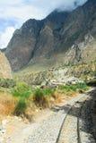 Ansicht des Weges zwischen Cusco und Machu Picchu, Peru Stockbild