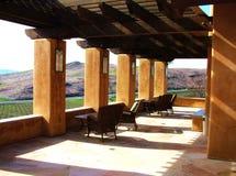 Ansicht des Weinbergs von der Weinkellerei-Veranda Lizenzfreies Stockbild