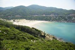 Ansicht des wilden Strandes Stockfotografie