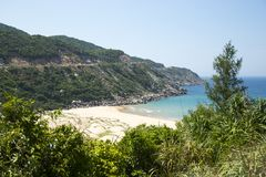 Ansicht des wilden Strandes Stockfotos