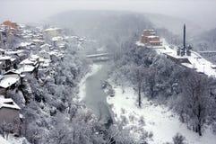 Ansicht des Yantra-Flusses im Januar Lizenzfreie Stockfotografie