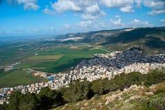 Ansicht des Yezreel Tales von der Montierung Tabor Stockfotografie