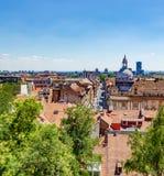 Ansicht des Zagrebs, Kroatien lizenzfreie stockbilder