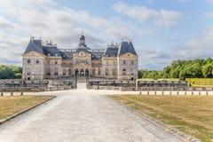 Ansicht des zentralen Gebäudes des Zustandes von Vaux-Le-Vicomte, Frankreich Stockbild