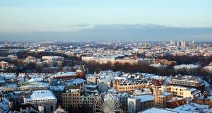 Ansicht des zentralen Teils von Riga Stockbild