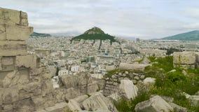 Ansicht, die Athen Griechenland übersieht stock video footage