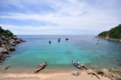 Ansicht, die an Muang-Strand, Koh Tao-Thaialnd poing ist Lizenzfreies Stockbild