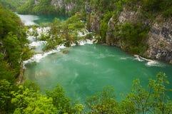 Ansicht in die Plitvice Seen Lizenzfreie Stockbilder