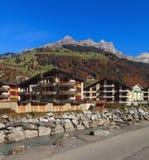 Ansicht in die Stadt von Engelberg, die Schweiz Lizenzfreie Stockfotos