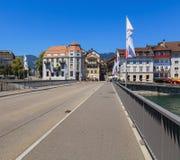 Ansicht in die Stadt von Solothurn, die Schweiz Lizenzfreie Stockfotos