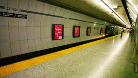 Ansicht in die Toronto-U-Bahn stock footage