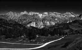 Ansicht-Dolomit Passo Sella, Italien Stockfotos