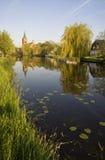 Ansicht am Dorf von Bleskensgraaf Lizenzfreies Stockbild