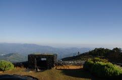 Ansicht-Drehkopf-Grenze von Thailand und von Myanmar Lizenzfreies Stockbild