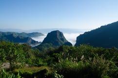 Ansicht-Drehkopf-Grenze von Thailand und von Myanmar Lizenzfreie Stockfotografie