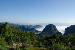 Ansicht-Drehkopf-Grenze von Thailand und von Myanmar Stockbild