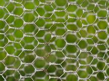 Ansicht durch das metallische Netz lizenzfreie stockfotografie