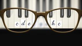 Ansicht durch die Gläser scharf mit den Gläsern nicht scharf ohne Gläser Lizenzfreies Stockfoto