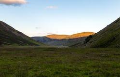 Ansicht durch schottische Schlucht Stockfotos