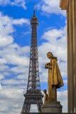 Ansicht am Eiffelturm Stockfotografie