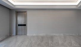 Ansicht in ein leeres Wohnzimmer Lizenzfreie Stockfotografie