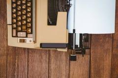 Ansicht einer alten Schreibmaschine Lizenzfreies Stockfoto