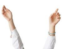 Ansicht einer angehobenen Hand Lizenzfreie Stockbilder