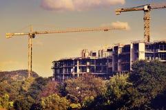 Ansicht einer Baustelle Stockfotografie