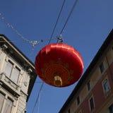 Ansicht einer chinesischen Lampe Stockbilder