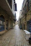 Ansicht einer Gasse in altem Safed stockfotografie