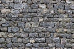 Ansicht einer grauen Ziegelsteinwand Lizenzfreie Stockfotos
