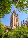 Ansicht einer Kathedrale in Sevilla, Spanien Stockfotos