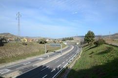 Ansicht einer Landstraße Stockbild