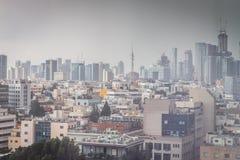 Ansicht einer modernen Stadt Stockbild