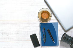 Ansicht einer Tischplatte Lizenzfreies Stockbild