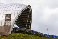 Ansicht eines Abschnitts Sage Gatesheads Dieses moderne Gebäude ist ein internationales Haus für Musik stockfoto