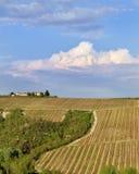 Ansicht eines Bauernhauses Stockfotos