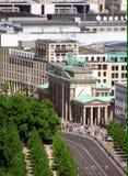 Ansicht an eines Branderburger-Tors von oben Lizenzfreies Stockfoto