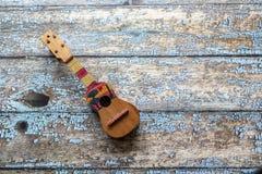 Ansicht eines Cuatro-Venezolaners, lateinamerikanisches Musikinstrument lizenzfreies stockbild