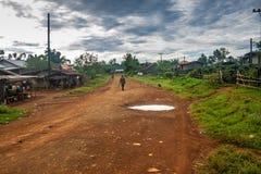 Ansicht eines Dorf Verbots Nong Luang Stockbild