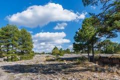 Ansicht eines geologischen Felsenparkpanoramas Stockfotografie