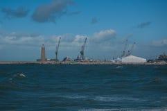 Ansicht eines Hafens Livorno-Kais, Italien Stockbilder