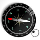Ansicht eines Kompassses Stockfoto