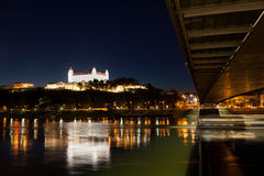 Ansicht eines mittelalterlichen Schlosses in Bratislava Lizenzfreie Stockbilder