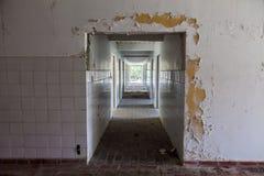 Ansicht eines ruinierten Raumes Stockbild